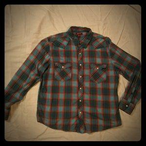 Other - Men's sz XL snap front plaid shirt